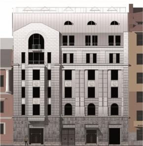 Проект фасада административного здания на наб. р. Фонтанка