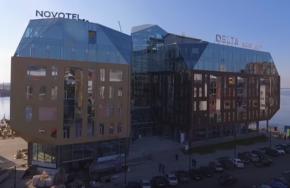 МФК DELTA и Novotel-Архангельск. Аэросъемка, октябрь 2017