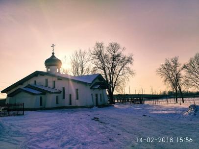 Зимние фото храма в Колпино