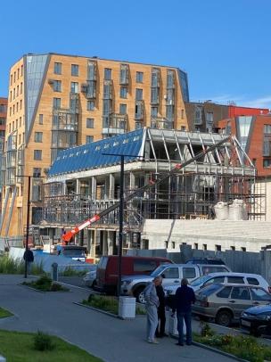 Речпорт Архангельска (фото со стройки)