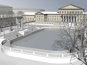 Проект воссоздания катка в Юсуповском саду