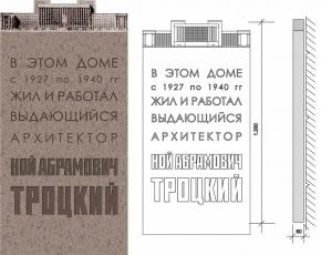 Мемориальная доска архитектору Н.А. Троцкому