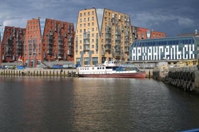 Новые фото застройки набережной в Архангельске