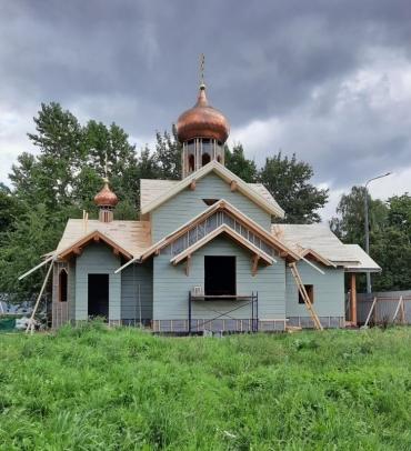 Фото малого храма на Крестовском о-ве